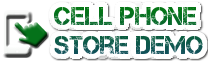 cell phone store demo website